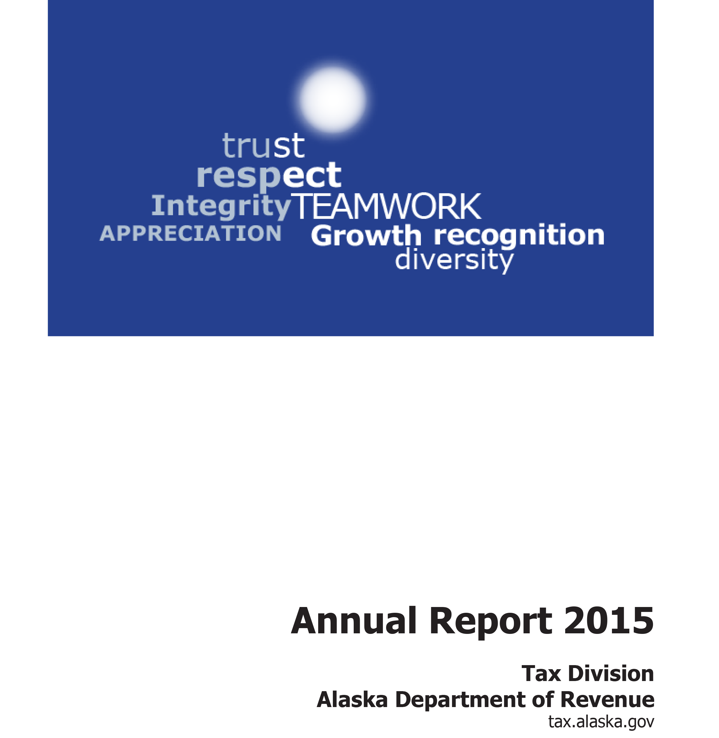 Alaska Department of Revenue - Tax Division - Annual Report